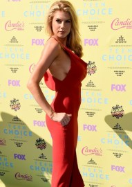 LOS ANGELES, CA - AUGUST 16: Model Charlotte McKinney attends the Teen Choice Awards 2015 at the USC Galen Center on August 16, 2015 in Los Angeles, California. (Photo by Steve Granitz/WireImage)
